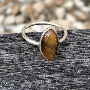 925 Silver Tigre Eye Gemstone Ring